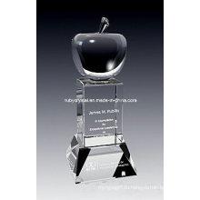 9 дюймов высотой превосходным Яблоко Кристалл трофей награды (GL12)