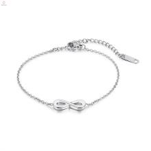 Bracelet Love Infinity en argent et acier inoxydable
