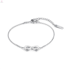 Girl Love Stainless Steel Silver Infinity Bracelet