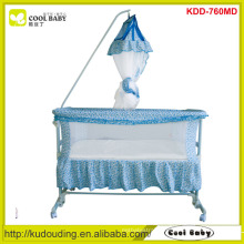 Factory price NEW Portable Baby Cradle Swing Baby Bassinet Deluxe High Pole Mosquito Net Baby Swing Bed