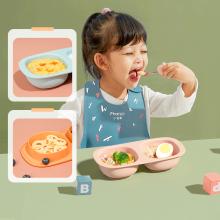 Baby Snack Pot Juego de tazones de plástico con sello sin BPA