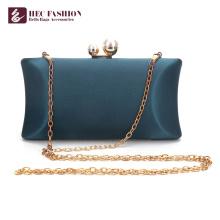 HEC China Factory Fashion Green Small Satin Shoulder Bag For Lady