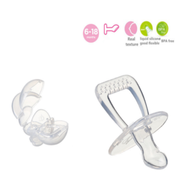 Säkerhet Flat Head Infant Silikon Soother