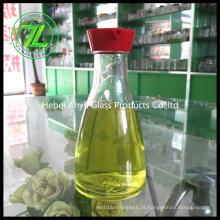 150ml de molho de soja garrafa de vidro com buraco plástico Cap