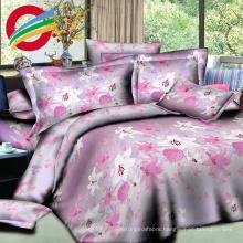 modern high quality check printed bed sheet sets