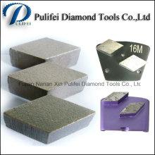 Hard Concrete Stone Floor Surface Coarse Grinding Rhombus Segment Tips