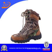 Botas militares de tobillo de cuero de la capa superior de moda Ab-10