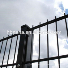 2D welded double horizontal wire fence / twin PVC coated ornamental double loop wire fence