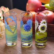 Clear Customized Drinking Glass with Decal Printing