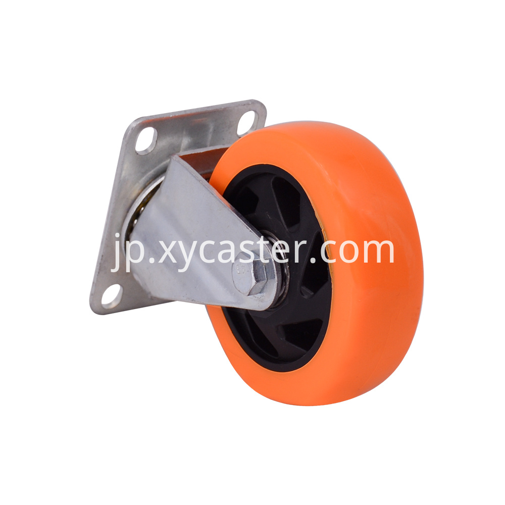 4 Inch Orange Swivel Caster Wheel