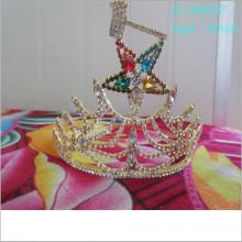 Großhandel Mode Gold Schönheit Tiara Fünf-Sterne-Krone Urlaub