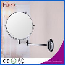 Fyeer Hochwertiger runder faltbarer an der Wand befestigter Cosmeitc Wand-Spiegel