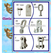 ALL type clevis tongue cable fitting overhead line hardware fitting electric power line fitting