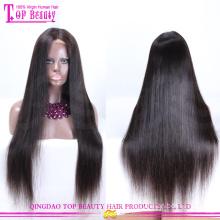 Человеческих волос шелковый топ полный парик шнурка парики импортные