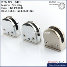 round zinc alloy cured/flat base glass clamp