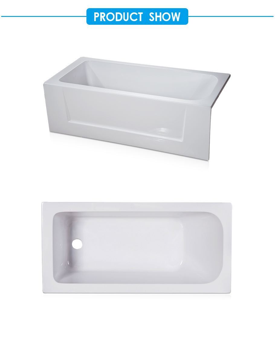 Simplicity Alcove Bathtub in White Acrylic