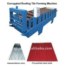 gewellte / Wasserwelle färbte Stahldach-Kaltwalzformungsmaschine