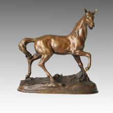 Animal Bronze Sculpture Horse Decoration Brass Statue Tpal-091