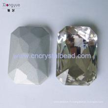 Rectangle cristal perles artisanales