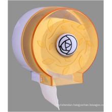 Hotel Publicl Toilet Wholesale Orange Translucent Round Plastic Wall Mounted Tissue Paper Towel Roll Dispenser Holder