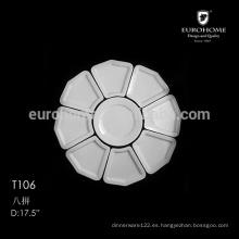 Plato dividido de cerámica de hotel, placa de compartimiento T106