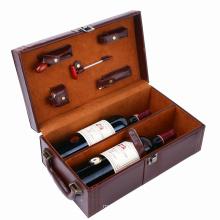 Caixa de presente de empacotamento quente do vinho vermelho do papel do cartão da folha