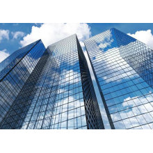 Commercial and Residential Building Frameless Double Glass Curtain Wall
