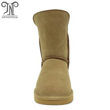 Fashionable winter warmest women sheepskin outdoor boots