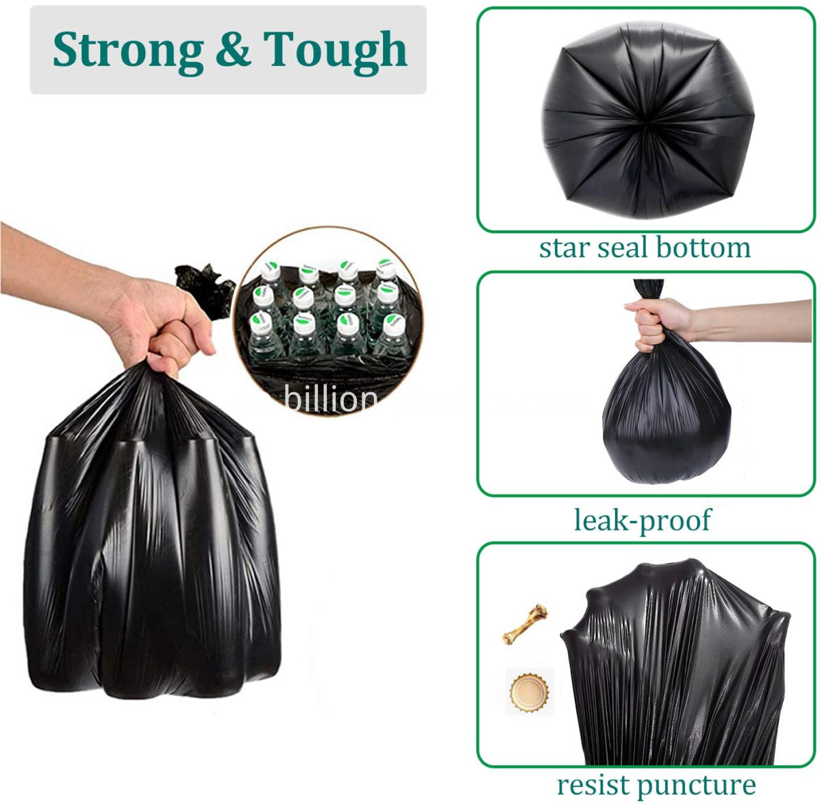 clear plastic trash bags