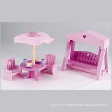 Kinder rosa hölzerne Miniatur Gartenmöbel