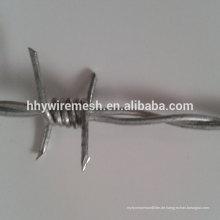 billig Stacheldraht galvanisierte Stacheldraht Gewicht pro Meter Preis Stacheldraht