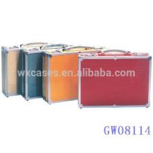 aluminio portable de alta calidad de viaje maleta con fabricante de opciones de color diferentes