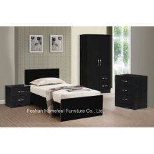 3 Piece High Gloss Combi Wardrobe Bedroom Set