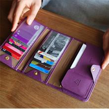 Enough Stock Fashion Nouveau titulaire de carte de banque à double carte pliable