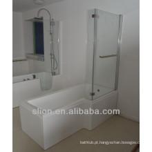 Banho de banho transparente envolvente com banho de chuveiro superior