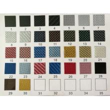 La plaque d'interrupteur colorée recouvre le carbone à pleine fibre