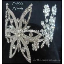 Новая модель кристалл короны кристалл тиара принцесса тиара ювелирные изделия подгонянные короны поддельные корону