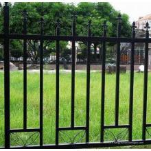 Yard ornemental noir et blanc fer forgé clôture de palisade