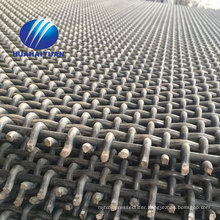 crimped quarry mesh 65Mn steel vibrating screen mesh with hook mining crusher mesh