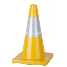 "Cinta reflectante 18 ""Cono de tráfico de PVC amarillo brillante flexible"