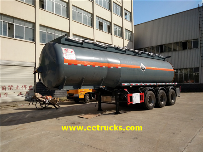 28500 Litres Hydrochloric Acid Trailer Tankers