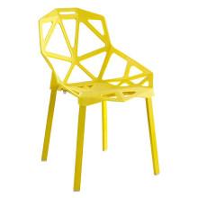 Muebles creativos Moda nórdica silla hueca hotel ocio café silla pierna de metal silla de comedor
