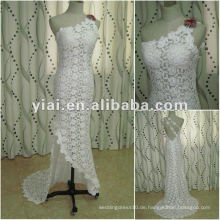 JJ2683 White One Schulter High Quality Long Train Nixe Spitze Brautkleid 2015 neuesten Kleid Designs in China Alibaba