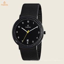 Reloj analógico de cuarzo japonés de la exhibición análoga de la malla clásica de los hombres 72345