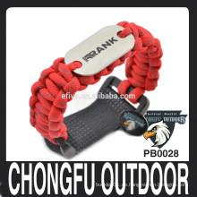 Grabado láser perro tag paracord pulsera