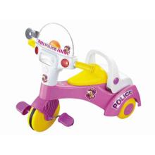 Трехколесный велосипед с большой ножной педалью с музыкой и светом