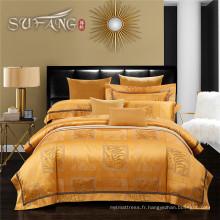 Luxe Yage Home literie 300TC dobby tissu drap de lit ensemble jacquard lit propagation