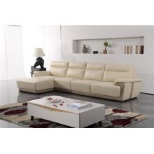 Canapé de salon avec canapé moderne en cuir véritable (423)