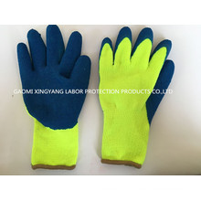 Acrylic Napping Lining Latex Coated Safety Glove