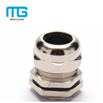 Glándulas de cable Proff de agua de tamaño Silver Silver Nylon PG de color gris